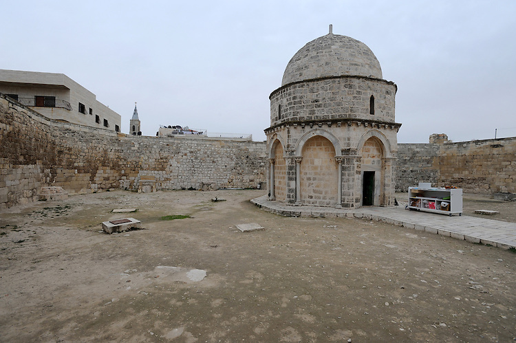 The Chapel of the Ascension on Mt. Olives, Jerusalem. It is believed that Jesus went up to heaven from this spot.