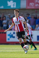 Daniel O'Shaughnessy of Cheltenham during the Sky Bet League 2 match between Cheltenham Town and Leyton Orient at the LCI Rail Stadium, Cheltenham, England on 6 August 2016. Photo by Mark  Hawkins / PRiME Media Images.