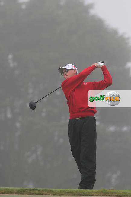 Jack Davidson (WALES) on the 11th tee at the 2012 Boys Home Internationals at Co.Louth Golf Club in Baltray, Co.Louth...(Photo credit should read Jenny Matthews/NEWSFILE)...