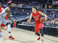 Washington, DC - March 10, 2018: Davidson Wildcats in action during the Atlantic 10 semi final game between St. Bonaventure and Davidson at  Capital One Arena in Washington, DC.   (Photo by Elliott Brown/Media Images International)