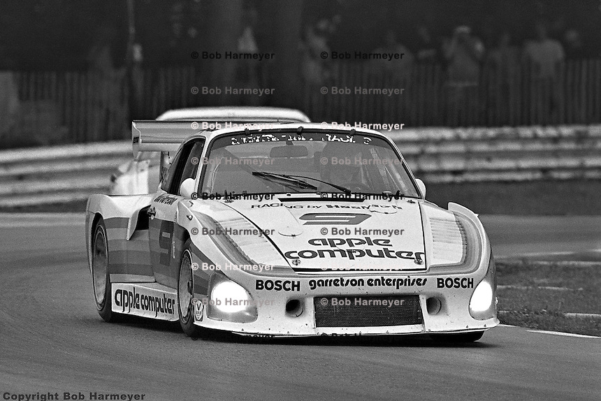 Bobby Rahal drives a Porsche 935 Kremer K3 entered by Dick Barbour Racing in the 1980 IMSA race at Road America near Elkhart Lake, Wisconsin.