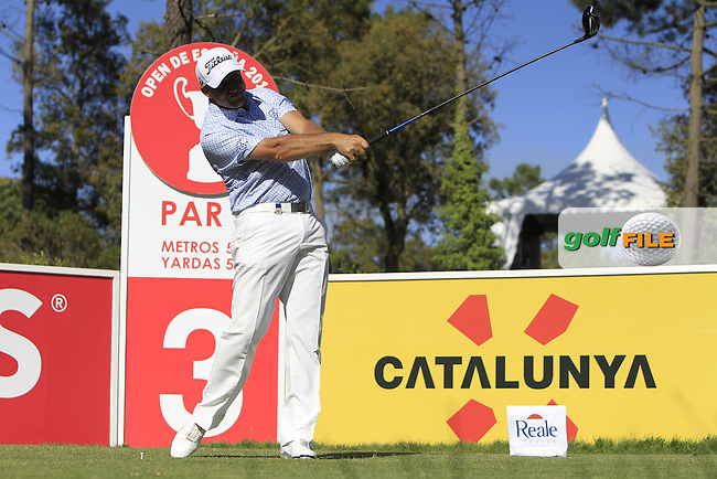 Darren Fichardt (RSA) on the 3rd tee during Thursday's Round 1 of The Open De Espana at The PGA Catalunya Resort. 15th May 2014.<br /> Picture:  Thos Caffrey / www.golffile.ie