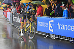 Adrien Petit (FRA) Direct Energie in action during Stage 1, a 14km individual time trial around Dusseldorf, of the 104th edition of the Tour de France 2017, Dusseldorf, Germany. 1st July 2017.<br /> Picture: Eoin Clarke | Cyclefile<br /> <br /> <br /> All photos usage must carry mandatory copyright credit (&copy; Cyclefile | Eoin Clarke)