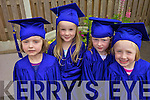 SCHOOL'S OUT: Children at the Happy Campers cre?che in Listowel who graduated last Friday, l-r: Colleen Stack, Ellie-Ava Liston, McKenzie Mulvihill, Sarah Flynn.