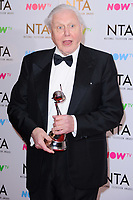 Sir David Attenborough at the National Television Awards 2018 at the O2 Arena, Greenwich, London, UK. <br /> 23 January  2018<br /> Picture: Steve Vas/Featureflash/SilverHub 0208 004 5359 sales@silverhubmedia.com
