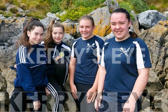 enjoying the Fenit Regatta on Sunday were Flesk Valley rowing cub Hannah O'Leary, Lucy O'Leary, Elisha Leen and Mia Heffenan