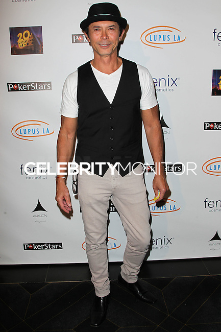 HOLLYWOOD, LOS ANGELES, CA, USA - SEPTEMBER 18: Lou Diamond Phillips arrives at the 'Get Lucky For Lupus' 6th Annual Poker Tournament held at Avalon on September 18, 2014 in Hollywood, Los Angeles, California, United States. (Photo by Celebrity Monitor)