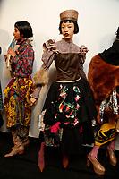 FEB 2019 Matty Bovan fashion show backstage