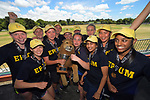 Tournament champions Epsom Girls' Grammar SAchool. The 2017 New Zealand Secondary Schools 1st XI NZCT girls' cricket national finals at Fitzherbert Park in Palmerston North, New Zealand on Sunday, 3 December 2017. Photo: Dave Lintott / lintottphoto.co.nz