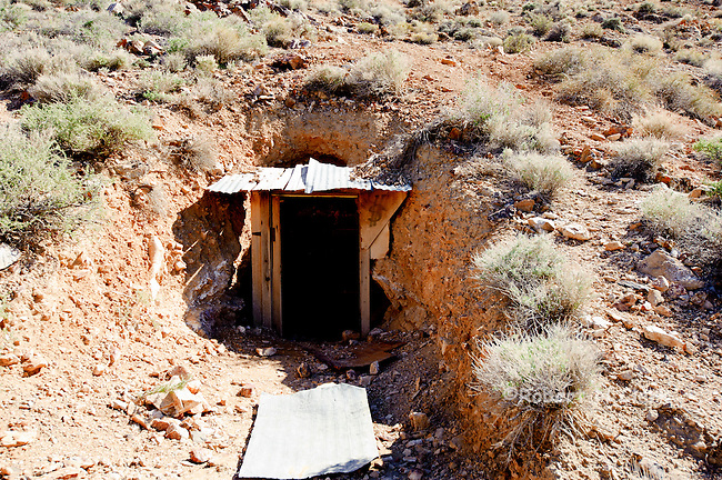 Mine shaft entrance at the Eureka Mine, Death Valley National Park