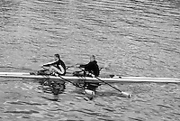 Putney, GREAT BRITAIN,   Ladies Double Scull [W2X] Stroke Miss Karon PHILLIPS, bow, Mrs Pauline RAYNER returning to the, after a training outing up river,  Putney Hard,  09.04.2008 [Mandatory Credit, Peter Spurrier / Intersport-images] Rowing Course: River Thames, Championship course, Putney to Mortlake 4.25 Miles,