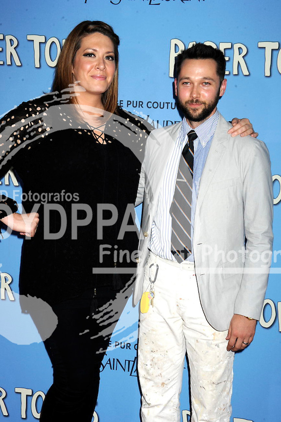 Michelle Collins and Chris Benz attending the 'Paper Towns' premiere at AMC Loews Lincoln Square on July 21, 2015 in New York Cit