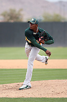 Jonathan Joseph #37 of the Oakland Athletics plays in an extended spring training game against the Chicago Cubs at the Athletics minor league complex on May 18, 2011  in Phoenix, Arizona. .Photo by:  Bill Mitchell/Four Seam Images.