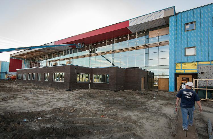 Construction at Furr High School, January 24, 2017.