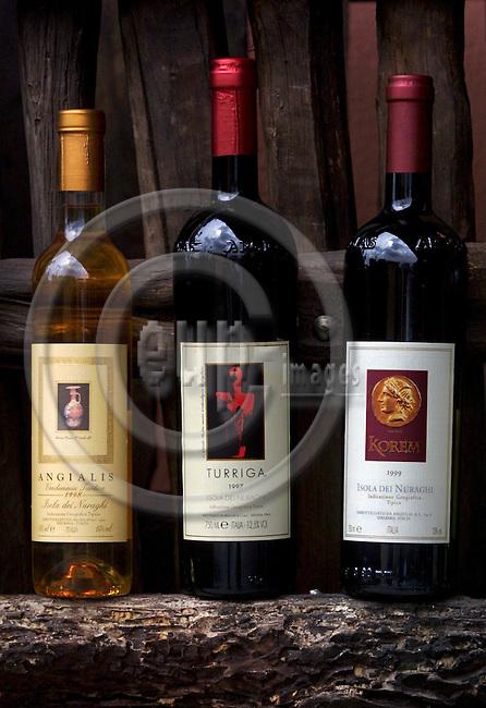 DOLIANOVA - ITALY / SARDINA 05 MAY 2001--The main wines  of the winery Argiolas, located in the Sardinian city Dolianova.-- PHOTO: JUHA ROININEN / EUP-IMAGES
