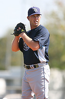 March 19th 2008:  Dale Thayer of the Tampa Bay Devil Rays minor league system during Spring Training at the Raymond A. Naimoli Complex in St. Petersburg, FL.  Photo by:  Mike Janes/Four Seam Images