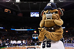 MILWAUKEE, WI - MARCH 18: Butler University mascot Butler Blue applauds during the 2017 NCAA Men's Basketball Tournament held at BMO Harris Bradley Center on March 18, 2017 in Milwaukee, Wisconsin. (Photo by Jamie Schwaberow/NCAA Photos via Getty Images)