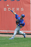South Bend Cubs Brandon Cummins (11) throws to second base during a game against the Burlington Bees at Community Field on May 10, 2017 in Burlington, Iowa.  The Bees won 4-3 in 10 innings.  (Dennis Hubbard/Four Seam Images)