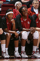 STANFORD, CA - NOVEMBER 1:  Melanie Murphy and Nnemkadi Ogwumike of the Stanford Cardinal during Stanford's 123-39 exhibition win against Chico State on November 1, 2008 at Maples Pavilion in Stanford, California.