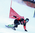 10.03.2012, La Molina, Spain. LG Snowboard FIS Wolrd Cup 2011-2012. Men's parallel giant slalom. Picture show Matthew Morison CAN