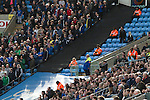Coventry City 1 Birmingham City 1, 10/03/2012. Ricoh Arena, Championship. Opposing fans are separated by a line of stewards at the Ricoh Arena, as Coventry City host Birmingham City in an Npower Championship fixture. The match ended in a one-all draw, watched by a crowd of 22,240. The Championship was the division below the top level of English football. Photo by Colin McPherson.