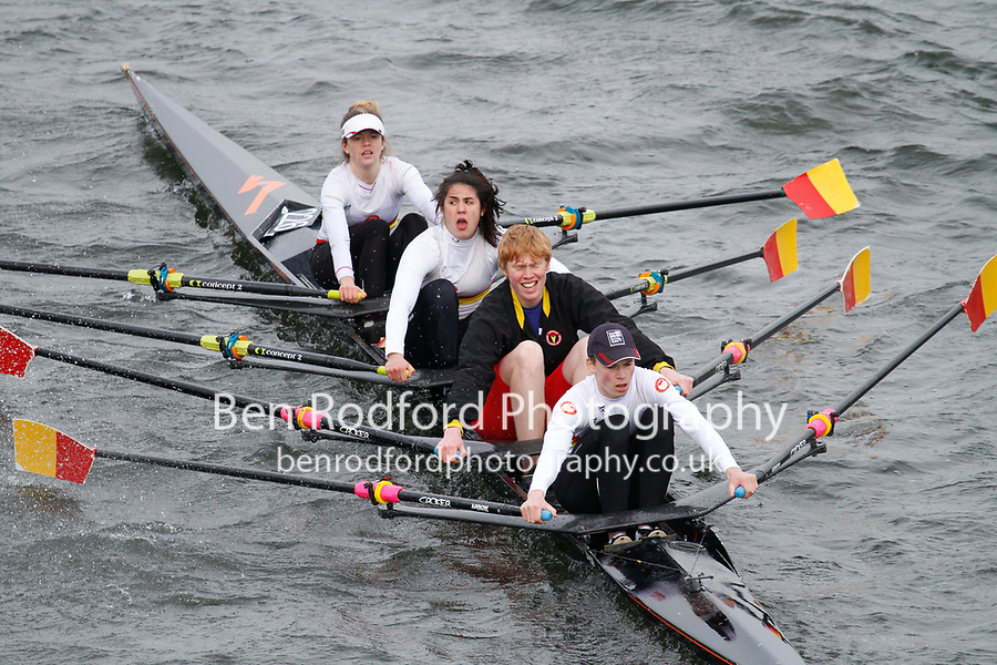 Crew: 226  Tideway Scullers Sch  Event: Mixed Quads<br /> <br /> Schools' Head of the River 2017<br /> <br /> To purchase this photo, or to see pricing information for Prints and Downloads, click the blue 'Add to Cart' button at the top-right of the page.
