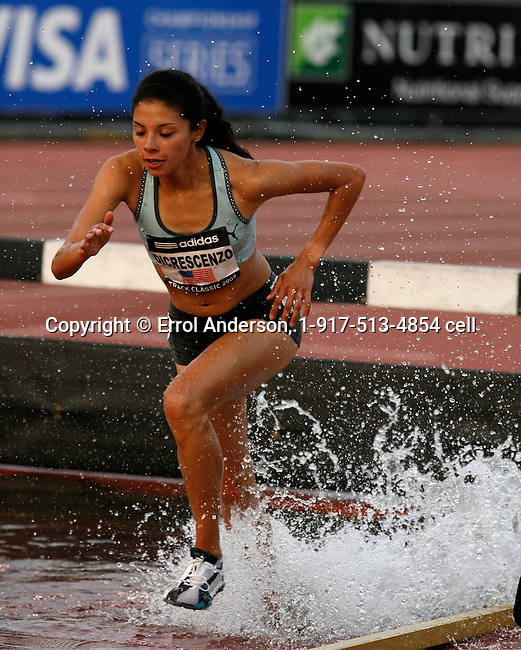 Delilah Dicrescenzo ran 9:53.58 in the 3000m Steeplechase at the Adidas Track Classic 2009 on Saturday, May 16, 2009. Photo by Errol Anderson,The Sporting Image.net