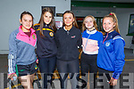 Maria and Anna Draghici, Bronagh O'Carroll, Dannie O'Sullivan and Hollie Leane attending the Kerry Ladies Night of the Dogs at the Greyhound Track on Saturday night.