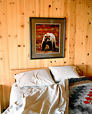 USA, Alaska, Denali National Park, room shot of a cabin at Camp Denali inside Denali National Park