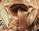 TURKEY, Istanbul, interior detail of Hagia Sophia Mosque under construction.