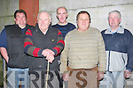 WEANLING SALE: Attending the Calf and Weanling sale at Kingdom Mart, Caherslee, Tralee on Tuesday night, Front l-r: Jeggy McMahon (Tralee) and John Griffin (Ballyheigue). Back l-r: Patrick Leen and Michael Leen (Causeway) and Thomas Herlihy (Lispole).....
