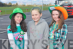 GREEN, WHITE & GOLD: Having a great time at the Glenbeigh St Patrick's Day parade on Saturday l-r: Hannah Kate Duffy, Cora Joy and Ella Morgan...