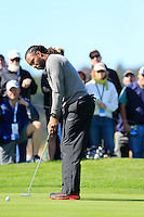 Arizona Cardinals wide receiver Larry Fitzgerald putts on the 6th green at Pebble Beach Golf Links during Saturday's Round 3 of the 2017 AT&amp;T Pebble Beach Pro-Am held over 3 courses, Pebble Beach, Spyglass Hill and Monterey Penninsula Country Club, Monterey, California, USA. 11th February 2017.<br /> Picture: Eoin Clarke | Golffile<br /> <br /> <br /> All photos usage must carry mandatory copyright credit (&copy; Golffile | Eoin Clarke)