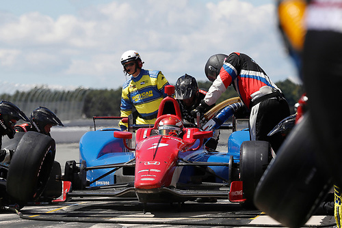 20-21 August, 2016, Long Pond, Pennsylvania USA<br />  Mikhail Aleshin,  pit stop<br /> ©2016, Michael L. Levitt<br /> LAT Photo USA