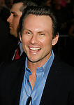 """HOLLYWOOD, CA. - April 30: Christian Slater arrives at the Los Angeles premiere of """"Star Trek"""" at the Grauman's Chinese Theater on April 30, 2009 in Hollywood, California.a"""