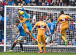 Scott McDonald gets in between Rob Kiernan and Wes Foderingham