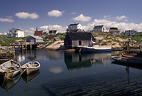 Peggy's Cove, fishing boats, fishing village, Nova Scotia, NS, Canada, Atlantic Ocean, Scenic view of the fishing village of Peggy's Cove in Nova Scotia.