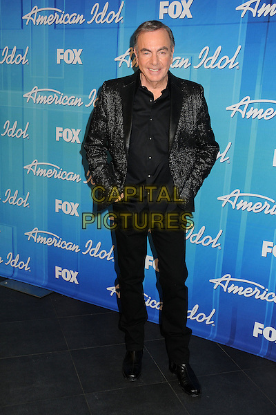 Neil Diamond.American Idol Season 11 Finale - Press Room held at Nokia Theatre LA Live, Los Angeles, California, USA..May 23rd, 2012.full length suit black  .CAP/ADM/BP.©Byron Purvis/AdMedia/Capital Pictures.