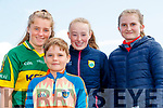 Tara Cronin, Alec Croin, Beibhinn Sheehy, Éabha Casey, all from Kenmare, pictured at the Kerry Team Open Day Meet and Greet, at Fitzgerald Stadium, Killarney on Saturday last.