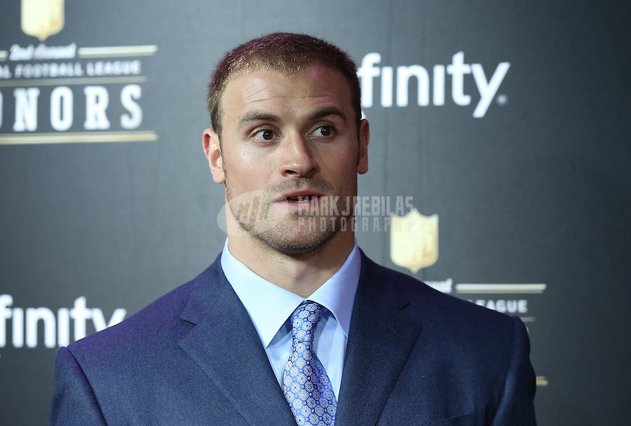 Feb. 2, 2013; New Orleans, LA, USA:  NFL player Chris Long on the red carpet prior to the Super Bowl XLVII NFL Honors award show at Mahalia Jackson Theater. Mandatory Credit: Mark J. Rebilas-USA TODAY Sports
