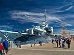 ORP Błyskawica - okręt muzeum zakotwiczony przy Nabrzeżu Pomorskim w Gdyni