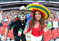 August 07, 2012..Supporters of Mexico's Soccer team during Semi Final match at the Wembley Stadium on day eleven in Wembley, England. Mexico defeat Japan 3-1 to reach Men's Finals of the 2012 London Olympics...