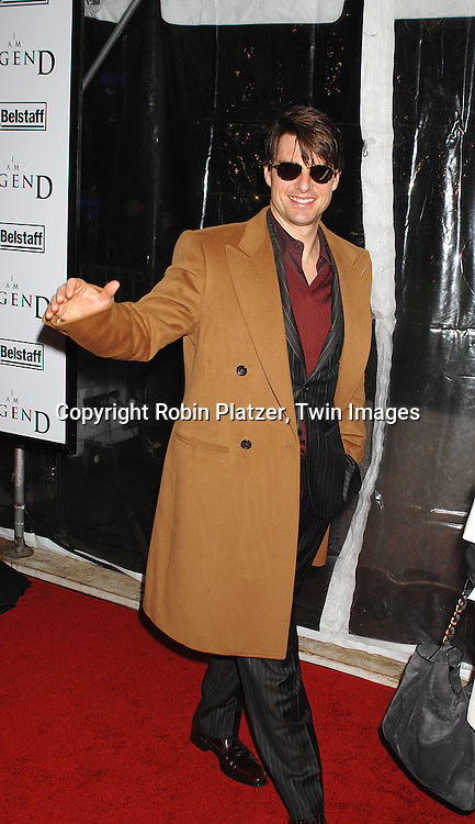 "Tom Cruise.arriving at The New York Premiere of""I Am Legend"" on .December 11, 2007 at The Theatre at Madison Square Garden. The movie stars Will Smith. .Robin Platzer, Twin Images"