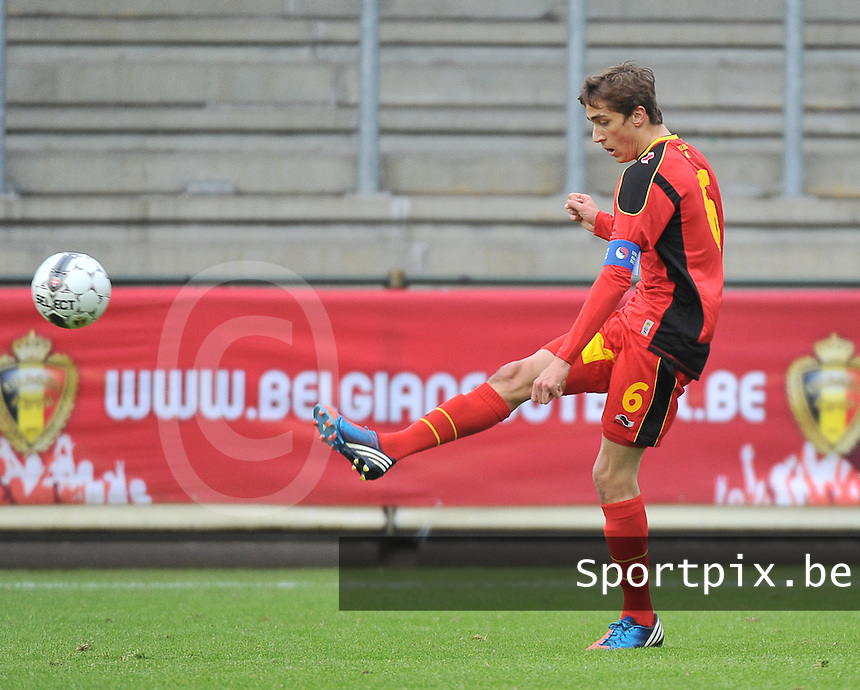 Belgium U19 - England U19 : Julien De Sart.foto DAVID CATRY / Nikonpro.be