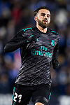 Borja Mayoral Moya of Real Madrid warms up prior to the Copa del Rey 2017-18 match between CD Leganes and Real Madrid at Estadio Municipal Butarque on 18 January 2018 in Leganes, Spain. Photo by Diego Gonzalez / Power Sport Images