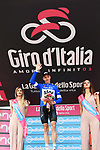 Chris Froome (GBR) Team Sky wins Stage 19 and also goes into the mountains Maglia Azzurra of the 2018 Giro d'Italia, running 185km from Venaria Reale to Bardonecchia featuring the Cima Coppi of this Giro, the highest climb on the Colle delle Finestre with its gravel roads, before finishing on the final climb of the Jafferau, Italy. 25th May 2018.<br /> Picture: LaPresse/Gian Mattia D'Alberto | Cyclefile<br /> <br /> <br /> All photos usage must carry mandatory copyright credit (&copy; Cyclefile | LaPresse/Gian Mattia D'Alberto)