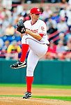 9 March 2010: Washington Nationals' pitcher Stephen Strasburg on the mound in his first Nationals appearance in a Spring Training game against the Detroit Tigers at Space Coast Stadium in Viera, Florida. Strasburg allowed two hits with no runs in his two-inning debut, but the Tigers defeated the Nationals 9-4 in Grapefruit League action. Mandatory Credit: Ed Wolfstein Photo