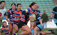 FOBO's Eleanor Hogan in action during the 2019 Manawatu premier women's club rugby Prue Christie Cup final match between Feilding Old Boys Oroua and Kia Toa at CET Arena in Palmerston North, New Zealand on Saturday, 13 July 2019. Photo: Dave Lintott / lintottphoto.co.nz