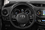 Car pictures of steering wheel view of a 2017 Toyota Yaris Y-conic 5 Door Hatchback
