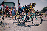 Steven Kruijswijk (NED/LottoNL-Jumbo) at the end of pav&eacute; sector #9<br /> <br /> Stage 9: Arras Citadelle &gt; Roubaix (154km)<br /> <br /> 105th Tour de France 2018<br /> &copy;kramon